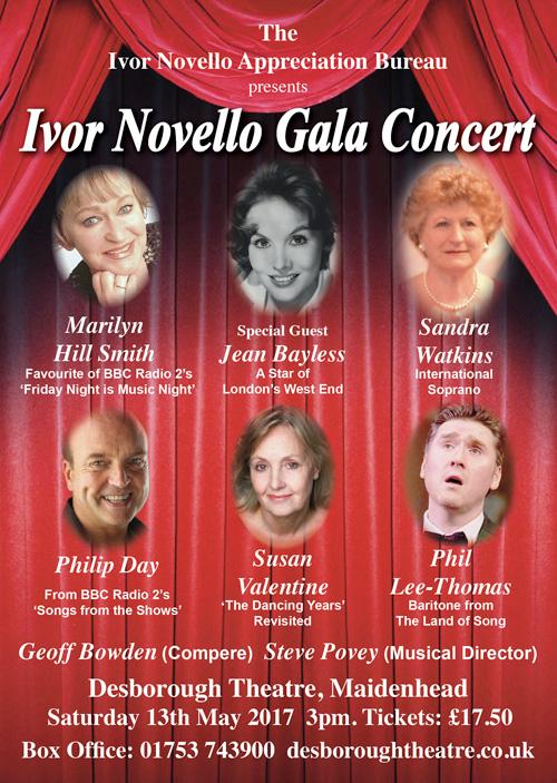 Ivor Novello Concert flyer