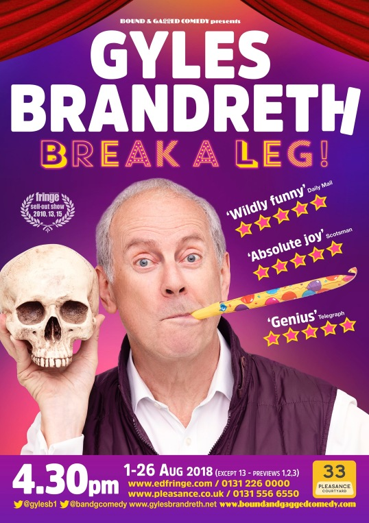 Break a leg! Edinburgh poster