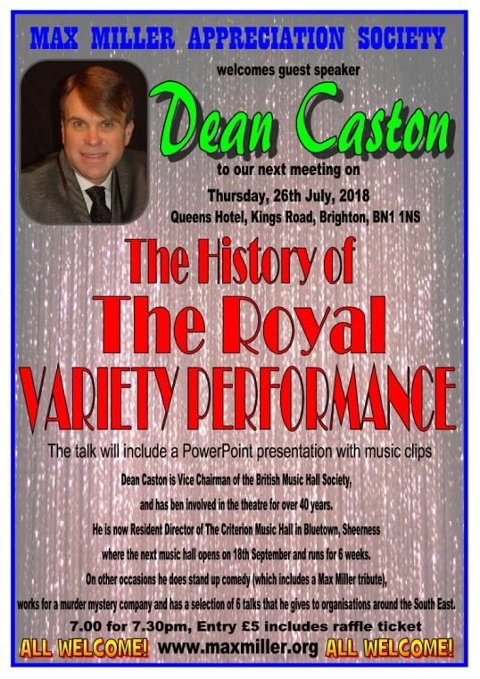 DEAN CASTON JULY MEETING