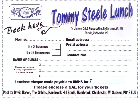 Tommy Steele form